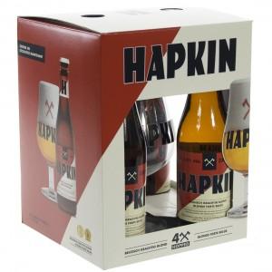 Hapkin Geschenkverpakking  33 cl  4fles+ 1glas