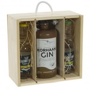 Korhaan Gin geschenkverpakking  70 cl  1 fles + 2 tonic