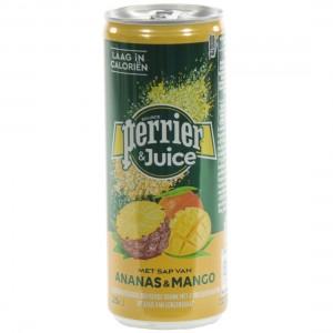 Perrier Limonade BLIK  ananas & mango  25 cl  Blik