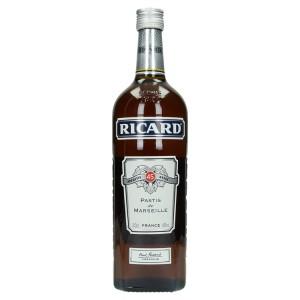Ricard pastis  45%  1 liter   Fles