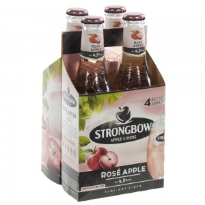 Strongbow Apple Ciders  Rose Apple  33 cl  Clip 4 fl