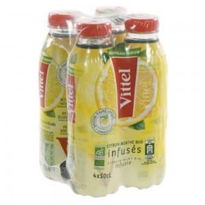Vittel infused Pet  Citroen-Munt  50 cl  Pak  4 st
