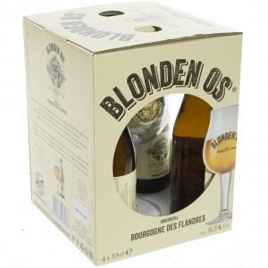 Bourgogne des Flandres Blonden Os  Blond  33 cl  4fles+ 1glas