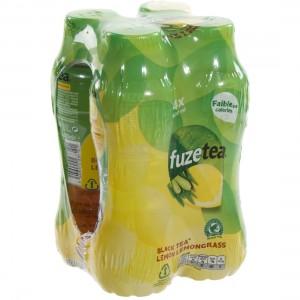 Fuze Tea PET  Black Lemon Lemongrass  40 cl  Pak  4 st