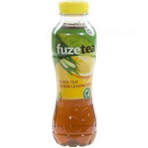 Fuze Tea PET  Black Lemon Lemongrass  40 cl   Fles