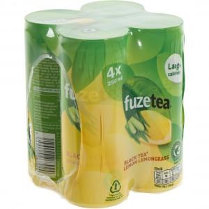 Fuze Tea BLIK  Black Lemon Lemongrass  25 cl  Blik 4 pak