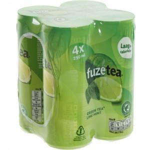 Fuze Tea BLIK  Green Lime Mint  25 cl  Blik 4 pak