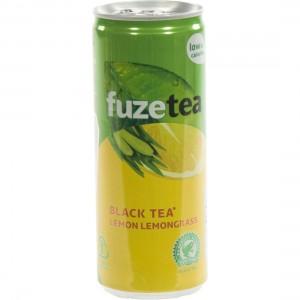 Fuze Tea BLIK  Black Lemon Lemongrass  25 cl  Blik