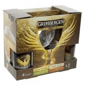 Grimbergen Giftpack  33 cl  4fles+ 1glas