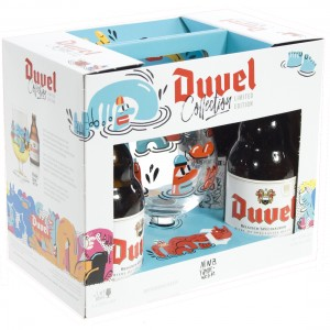 Duvel Geschenk LTD Edition - Nina Vandeweghe  33 cl  4fles+ 1glas