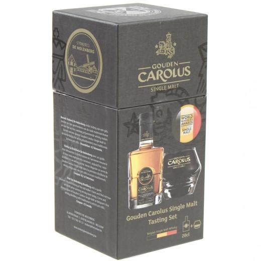 Gouden Carolus Single Malt box + glas  20 cl  1fles+1glas