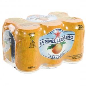 San Pellegrino Aranciata  33 cl  Blik  6 pak