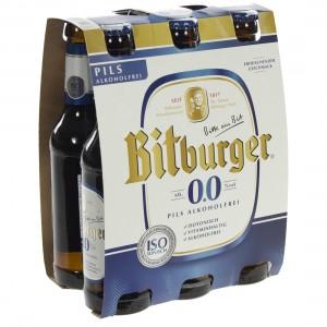Bitburger pils 0%  33 cl  Clip 6 fl