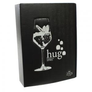 Hugo gift box  75 cl  1fles + 2glazen