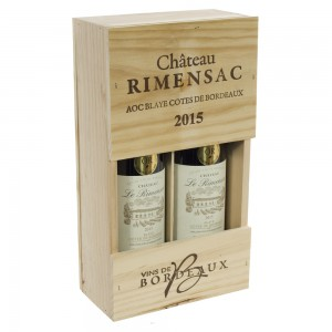 Wijnkist Rimensac 2x rood  kist 2 fl
