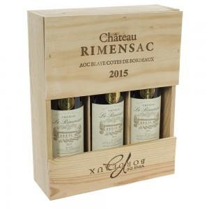 Wijnkist Rimensac 3x rood  kist 3 fl