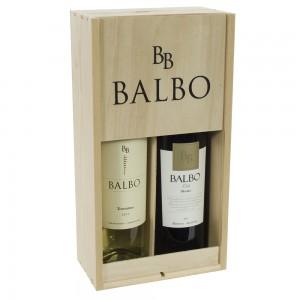 Balbo Torrontes/ Malbec Geschenk.  kist 2 fl