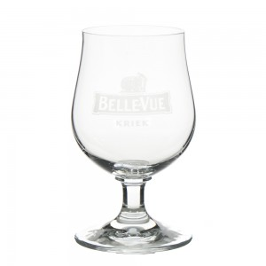 Belle vue kriek wit glas  25 cl