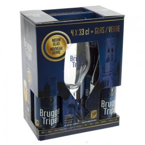 Brugge Tripel Geschenk  33 cl  4fles+ 1glas