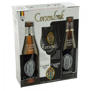 Corsendonk proefset Geschenkverpakking  33 cl  2fles+ 1glas