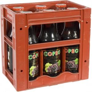 Copeo fruitsap  Druif rood  1 liter  Bak  6 fl