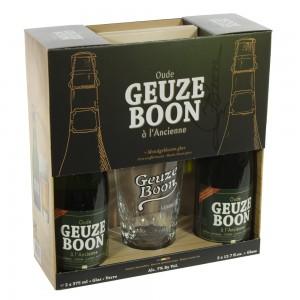 Boon Geuze Geschenk  Oude  37,5 cl  2fles+ 1glas