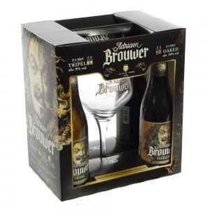 Adriaan Brouwer geschenk  33 cl  4fles+ 1glas