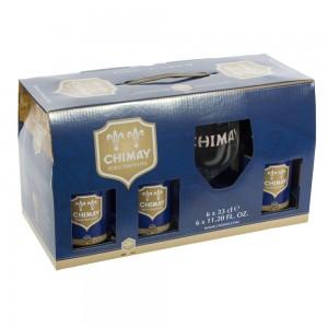 Chimay geschenk 6x33cl + glas  33 cl  6fles+ 1glas  Blauw