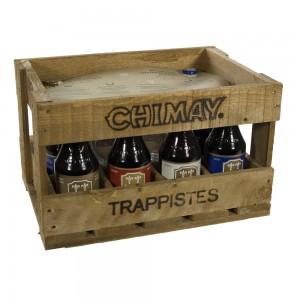 Chimay Mix Houten Kist  33 cl  10 Flessen + 2 Glazen