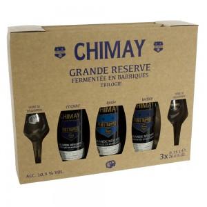 Chimay Trilogie Grande Reserve Geschenk  75 cl  3 fkes + 2 glas