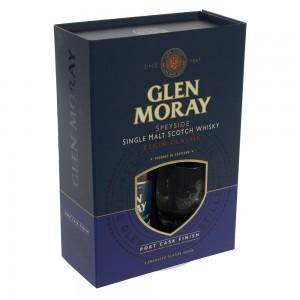 Whisky Glen Moray Classic Giftset  70 cl  1fles + 2glazen