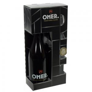 Omer traditional geschenkverpakking  75 cl  1fles + 2glazen