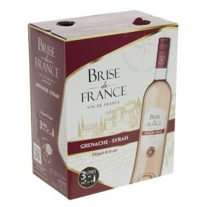 Brise de France VDP d' Oc Grenache Syrah 12.5%  Rose  3 liter  Vat