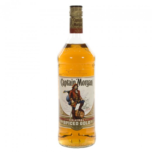 Captain Morgan Spiced Gold  1 liter   Fles