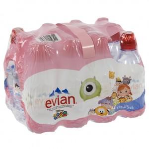 Evian PET  Plat  33 cl  Pak 12 st