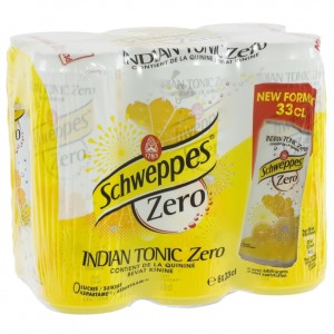 Schweppes Tonic BLIK  Zero  33 cl  Blik  6 pak