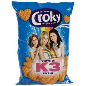 Croky Chips  K3 Paprika   Stuk  80 g