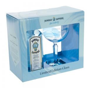 Bombay Sapphire + glas  70 cl
