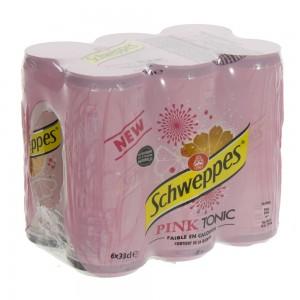 Schweppes Pink Tonic BLIK  33 cl  Blik  6 pak