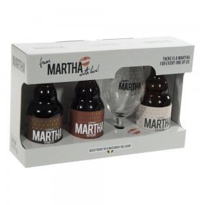 Martha Geschenk  3fles+ 1glas