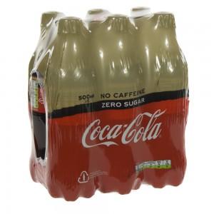 Coca Cola PET  Zero Caffeine vrij  50 cl  Pak  6 st