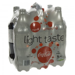 Coca Cola PET  Light  1 liter  Pak  6 st