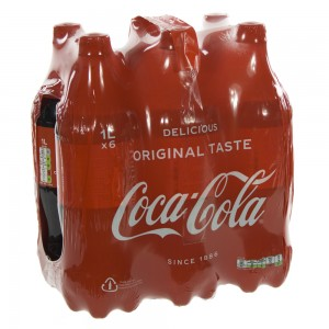 Coca Cola PET  Regular  1 liter  Pak  6 st