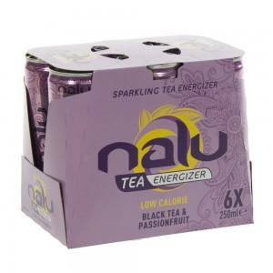 Nalu Tea Energizer  Black Tea-Passionfruit  25 cl  Blik  6 pak