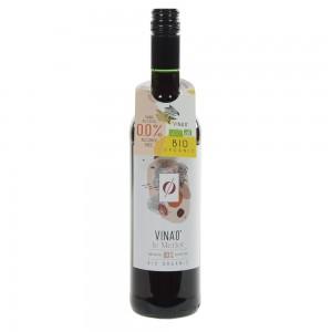 Vina 0% Merlot zonder alcohol Bio  Rood  75 cl   Fles