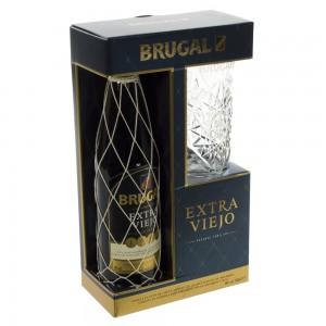 Brugal Anejo + 1 glas Geschenk  70 cl