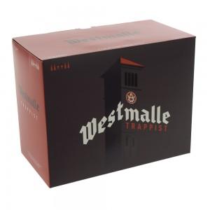 Westmalle geschenkverpakking  33 cl  4fles + 2glas
