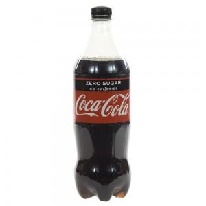 Coca Cola PET  Zero  1 liter   Fles