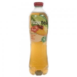 Fuze Tea PET  Black Peach Hibiskus  1,25 liter   Fles