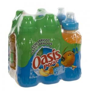 Oasis PET  Perzik - Abrikoos  25 cl  Pak  6 st